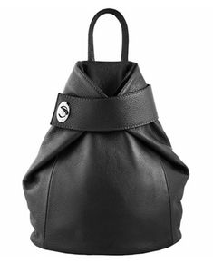 Italian luxury black coloured backpack for ladies - the Fashion Connector