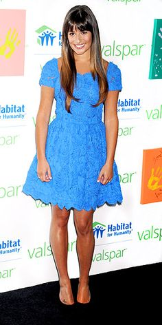 LEA MICHELE. Love that dress!