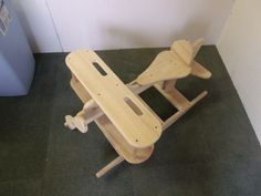Wooden Airplane Rocker 32 inches long, 24 inches wide and 17 inches tall