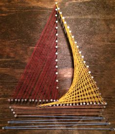 12 X 12 Sailboat Wall String art by MrsChicBoutique on Etsy, $34.99