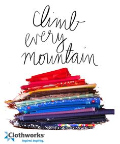 What a fine view it is!  Clothworks Stack of fabric!