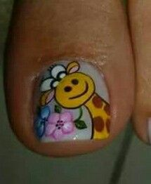Animal Nail Designs, Toenail Art Designs, Toe Nail Art, Toe Nails, Gorgeous Nails, Pretty Nails, Mani Pedi, Manicure, Nail Art For Kids