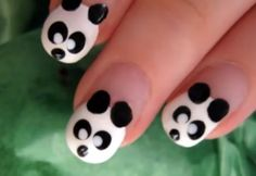 How to Make Panda Nail Art via www.wikiHow.com