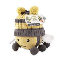 Buy Baby Aspen Critter Couture Knit Bee Plush Toy and Knit Cap from Bed Bath & Beyond