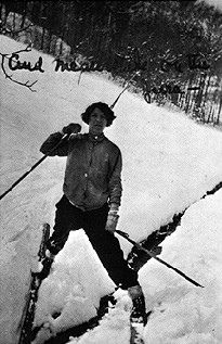 Zelda Fitzgerald skiing in Switzerland - 1930 - @~ Watsonette