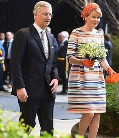 King Philippe and Queen Mathilde visits the Floralien Flower Festival