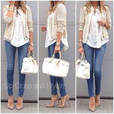 Look: scarpan bege + bag branca