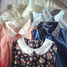 Peter Pan Collared pieces...these would look cute with a skirt. Or just jeans and boots, I guess.
