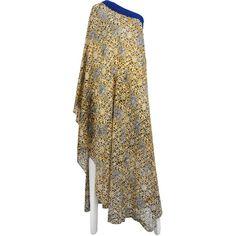 Preowned Yuki London Print Caftan ($1,800) ❤ liked on Polyvore featuring tops, tunics, multiple, cotton caftan, brown tunic, indian kaftan, indian cotton tops and vintage tunic