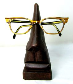 Take a message, Miss Jones... Vintage Spectacle Frames Retro 1960s Optical Brown by keepsies, £8.00
