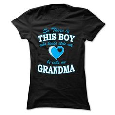 He Kinda Stole My Heart, He Calls Me Grandma T Shirt | Grandmothers gifts grandma gifts from baby and Grandma mothers day ideas #grandma #grandmother, #grandparents #mom #mothersday