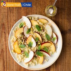 Couscous with Nectarine, Ginger-Orange Dressing, Pistachio and Mint - Produce Made Simple