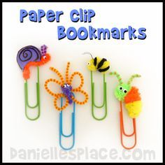 Paper Clip Bookmarks from www.daniellesplace.com