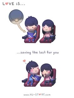 Love is... Saving the last one for you! ~ <3 Loved & pinned by http://www.shivohamyoga.nl/ #love #quotes #quote #lovely #cute #loveis #cartoon #warm #hope #live #life #hope #hjstory #adorable
