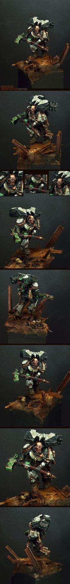 Korvydae is the Shadow Captain of the 10th Company of the Raven Guard Space Marine Chapter and the Chapter's Master of Recruits. Korvydae is renowned as an efficient raider and saboteur, who uses Scout Marines and Assault Marines to launch devastating lightning assaults against the foe