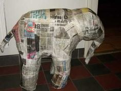 Paper Mache Baby Elephant Sculpture - How to Make It - YouTube