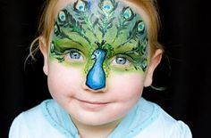 Peacock facepaint, just inspiration, hope do get it done cleaner