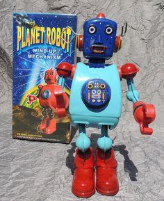 Robot-mecanique-en-tole-PLANET-ROBOT-modele-bleu-hauteur-24-cm