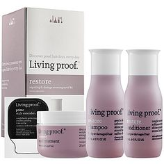 Restore Repairing & Damage Reversing Travel Kit - Living Proof | Sephora