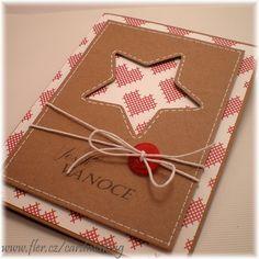 ...vánoční přání (24)..... Přáníčko o velikosti 10,5*14,5cm. Obálka je součástí přáníčka. Pozn: pokud se Vam libi neco z jiz prodeneho zbozi a mate o nejake pranicko zajem, staci napsat. Rada Vam jej dovyrobim.