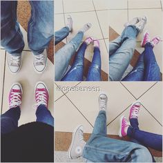 Couple who walk the same path #converse #sneakers