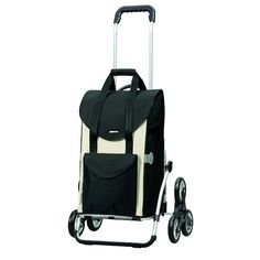 Andersen Shopping trolley Royal with bag Senta white, Volume aluminium frame and Stair-climbing wheels Fishing Cart, Stair Climbing, Trolley Bags, Beige, Shopper, Courses, Aluminium, Baby Strollers, Polyester Material