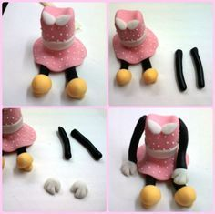 fondant mice | Cuppycakes & more...: How to Make Minnie Mouse Topper