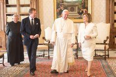 LA Cour Ducale Luxembourgeois: La Famille Ducal en visite au Vatican