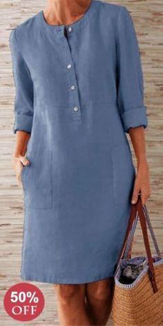 Prime Today🤣Boho Plus Size Elegant Fashion Mini Dress--SHOP NOW Source by suckiegordon dresses elegant Simple Dresses, Casual Dresses, Short Dresses, Casual Outfits, Fashion Dresses, Retro Outfits, Mode Jeans, Linen Dresses, Mode Outfits