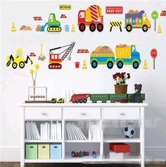 Construction Site wall decal sticker baby boy nursery bedroom home decor   Baby, Nursery Décor, Wall Décor   eBay!