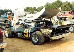 early 80's dirt track racing...one of the many cars racing at Forest Hill Speedway!