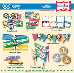 Olympic Party - FREE Olympics Printable Party- Olympic Games