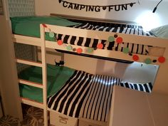 Stapelbed in caravan maken voor Finn en Senn