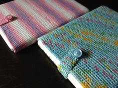 ノートパソコン用手編みスリーブ