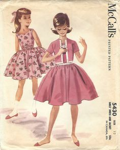 1960s McCall's 5430 Vintage Sewing Pattern Girls by midvalecottage