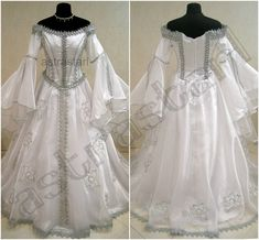 Medieval wedding dress s-m 10-12-14 witch goth larp wicca silver renaissance  vic. Ice Queen CostumeCostume ... 0dc05a0cec86