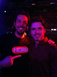 Zachary Levi & Richard Madden - Too much awesomeness in this photo!! <3