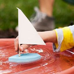 A plant saucer filles with water makes a great pond