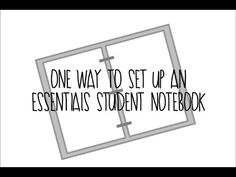 Simple visual guide to preparing your Essentials Notebook