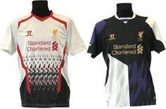 Liverpools away and third kits for the 2013/13 season? Surely not! Images courtesy of Footyheadlines.com.