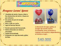 Menus :: Desayunos y Sorpresas Luvani Sandwich Jamon Y Queso, Surprise Box, Dip, Cupcakes, Surprise Gifts, Breakfast Basket, Breakfast Tray, Salsa, Cupcake