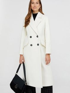 Our Wanda white maxi coat is a classic chic silhouette to elevate your outerwear. This sophisticated double-breasted design is a cosy style designed to keep . Maxi Coat, Line Shopping, White Maxi, Classic Chic, High Leg Boots, Monsoon, Double Breasted, Dress Outfits, Party Dress