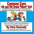 """EXCELLENT 4TH AND 5TH GRADE IDIOM UNIT, WRITING PROJECTS, SAMPLES, TASK CARDS AND MORE!   This is a complete unit for teaching the figurative language concept of """"idioms"""" in 4th and 5th grade. Included is  an introduction lesson with gui..."""