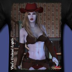 Cassidy the Undead Cowgirl Horror Music, Vampire Girls, Female Hero, Sexy Hot Girls, Rockabilly, Pretty Girls, Sexy Lingerie, Cool Designs, Babysitters