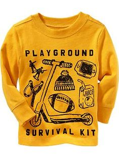 """Old Navy """"Playground"""" Graphic Tees for Baby - 18-24"""