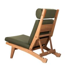 Hans Wegner AP71 Lounge Chair with Dark Green Fabric for AP Stolen, Denmark | 1stdibs.com
