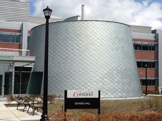 SUNY Cortland-Bowers Hall Cortland, NY, preweathered zinc, zinc facade system, Square Diamond Flatlock Panels