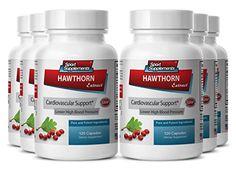 Garlic powder - Hawthorn Berry Extract 720 Capsules - Powerful natural antibiotic (6 Bottles)