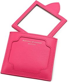 Aspinal of London Marylebone Neon Pink Compact Mirror