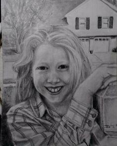 Portrait in graphite on paper by John Gochenour Graphite, My Friend, Portraits, Paper, Drawings, Pretty, Gift, Graffiti, My Boyfriend